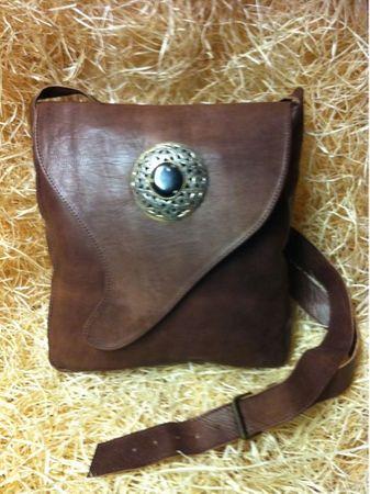 Moroccan Leather Handbag Nada - Brown – image 3