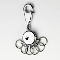Schlüsselhalter mit Dekor Karabinerhaken + 6 Ringe Troika SCHALTPLAN