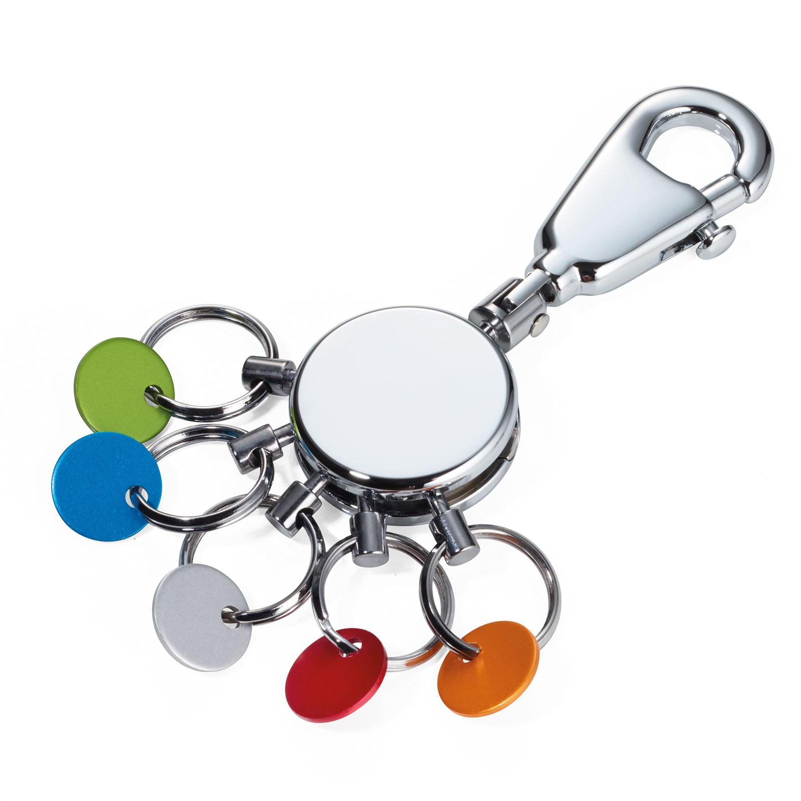 TROIKA Schlüsselanhänger PATENT COLOUR mit Karabiner glänzend mehrfarbig