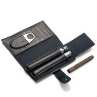 Genießerset Zigarre + Cognac Set Leder Edelstahl Philippi CHURCHILL