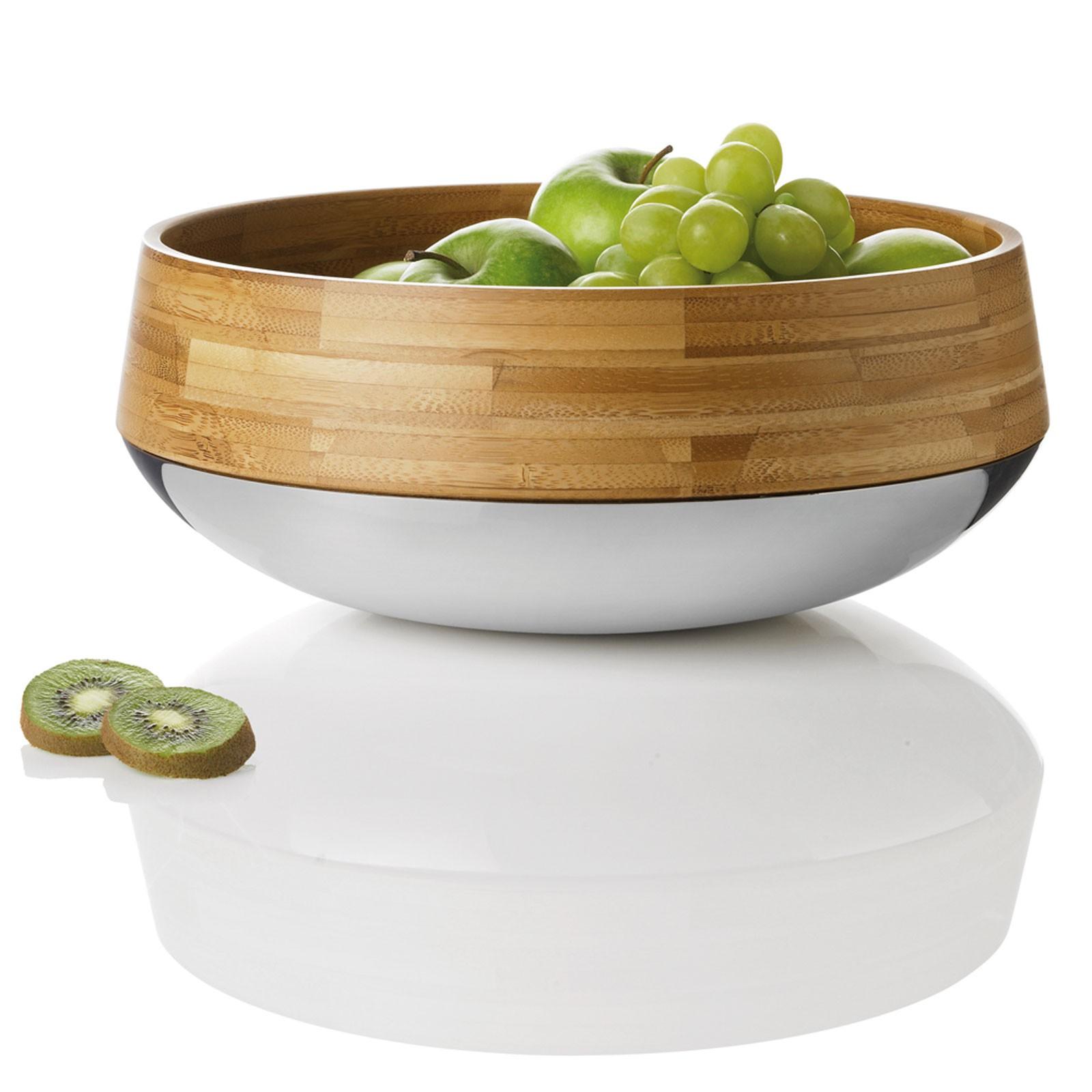 stelton Kontra Obst-/Salatschale Edelstahl Bambus