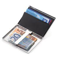 TROIKA Kreditkartenetui mit Weltkartenprägung BUSINESS WORLD