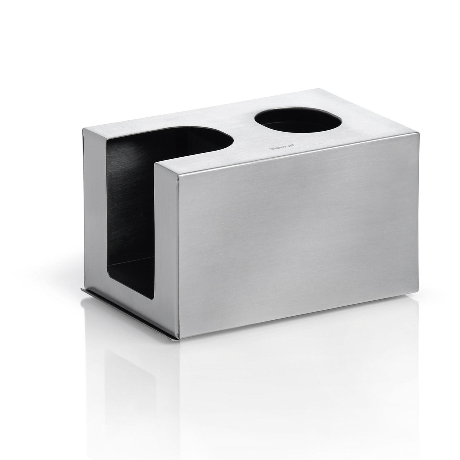 Kombibox für Wattestäbchen + Wattepads Edelstahl matt blomus NEXIO