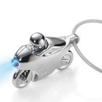 TROIKA Schlüsselanhänger SPEED LIGHT Motorrad mit LED