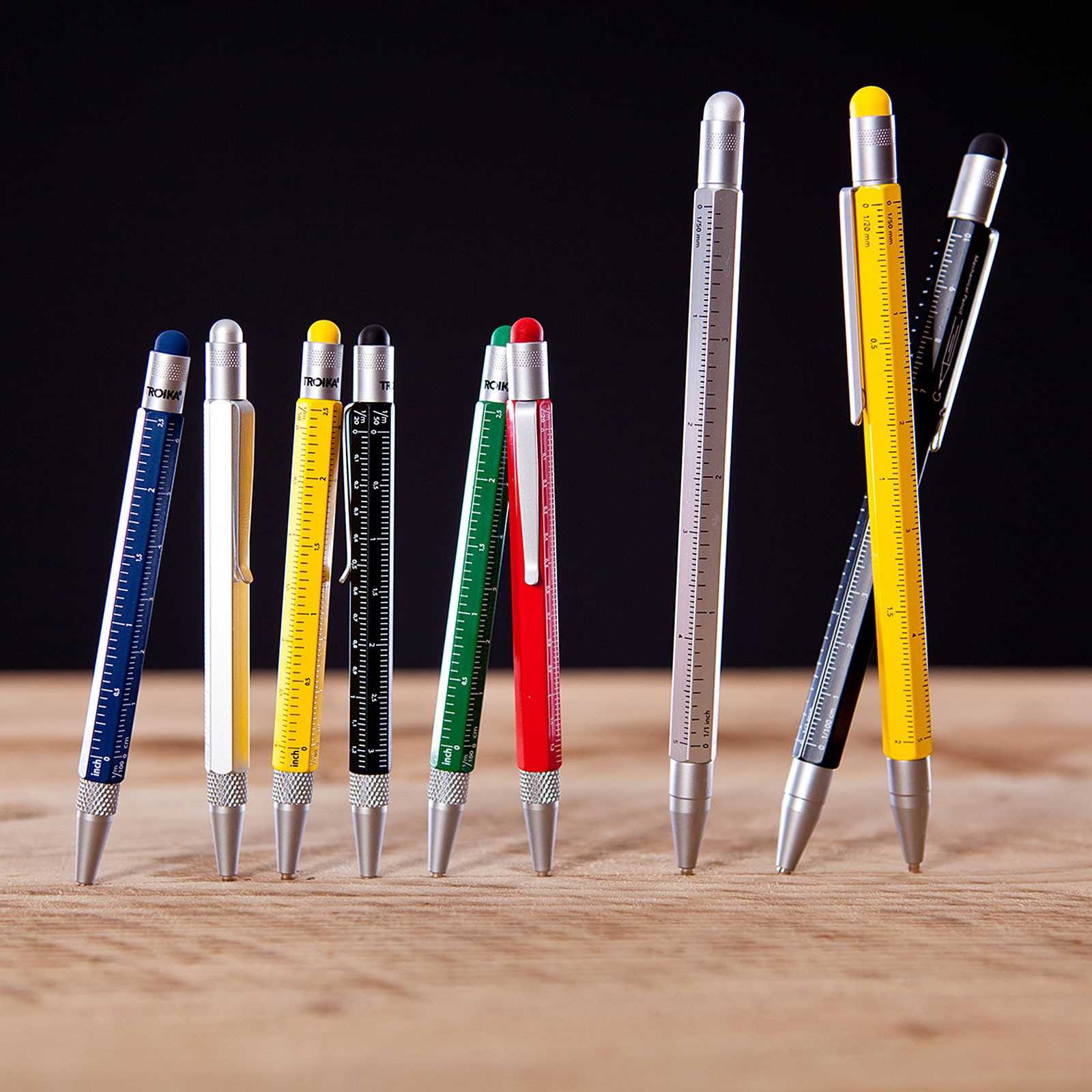 TROIKA Multitasking Kugelschreiber CONSTRUCTION viele Funktionen und Farben