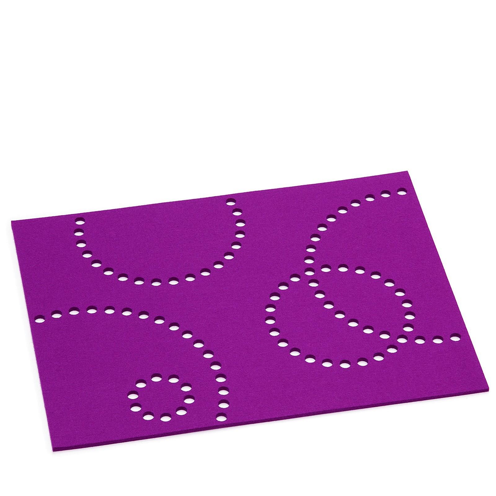 Tischset rechteckig mit Lochmuster 8-teilig viele Farben Hey Sign STAMP