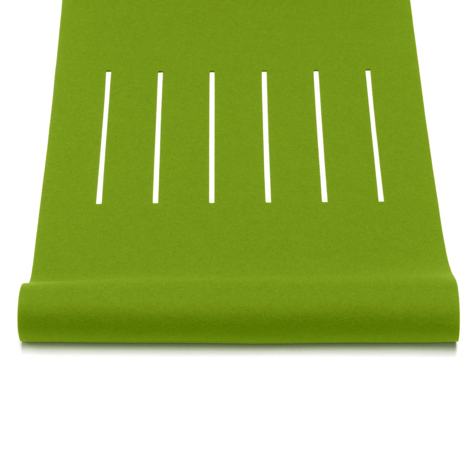 Tischläufer Filz geschlitzt viele Farben + Größen Hey Sign