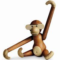 Holzfigur beweglicher Holzaffe 46 cm Kay Bojesen AFFE
