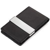 TROIKA CardSaver® Kreditkartenetui MIDNIGHT mit Geldscheinklammer schwarz