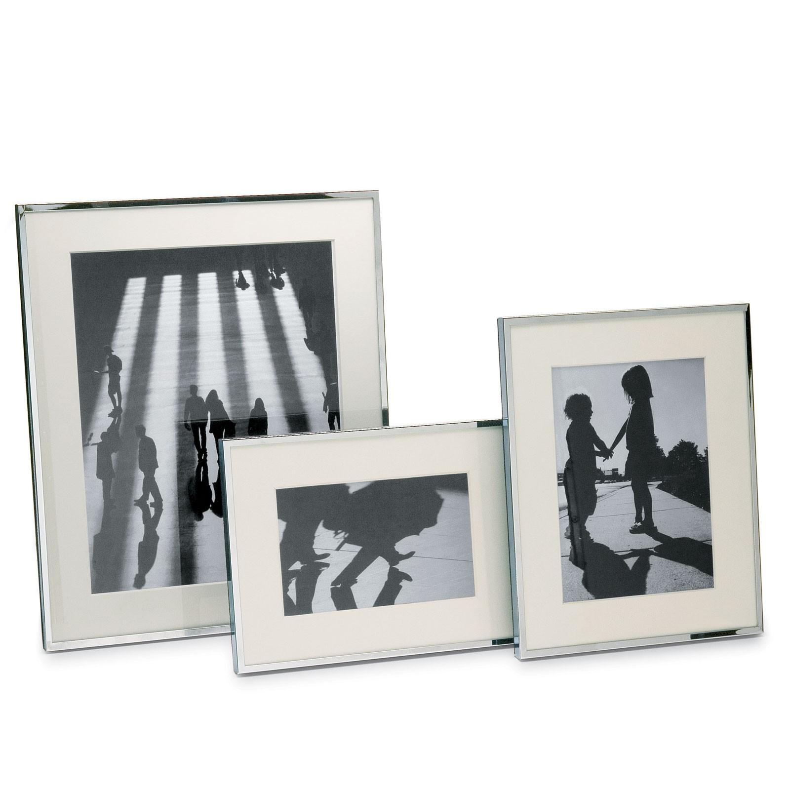Bilderrahmen Chrom mit Passepartout 10 x 15 cm Philippi SHADOW