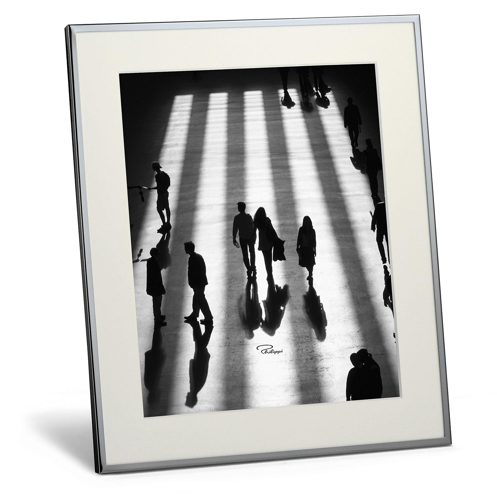 bilderrahmen chrom mit passepartout 20 x 25 cm philippi shadow. Black Bedroom Furniture Sets. Home Design Ideas