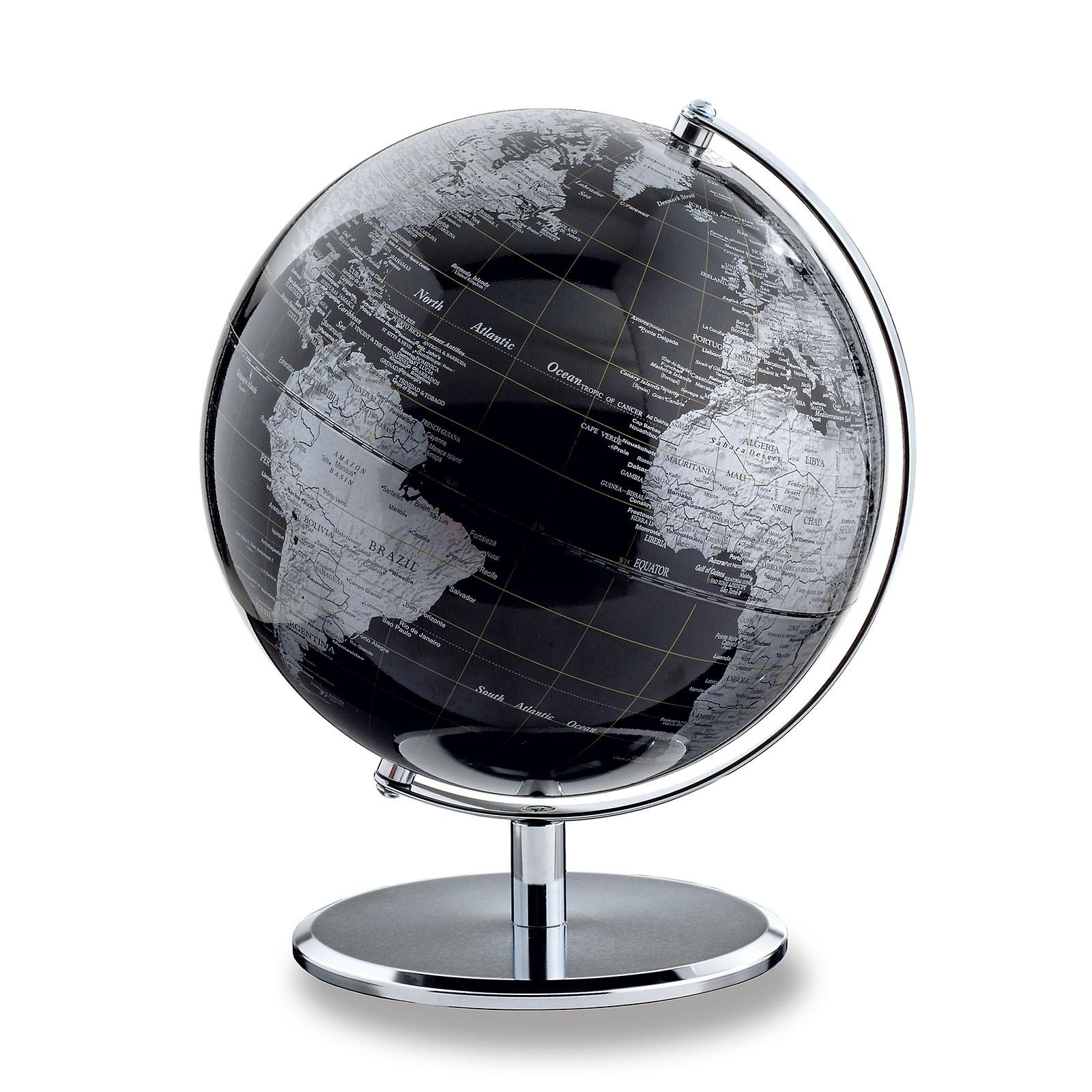 Emform Tischglobus Globus Planet 25 X 30 Cm Darkchrome Planet