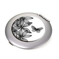 Taschenspiegel + Vergrößerungsspiegel Troika BLACK FLOWERS