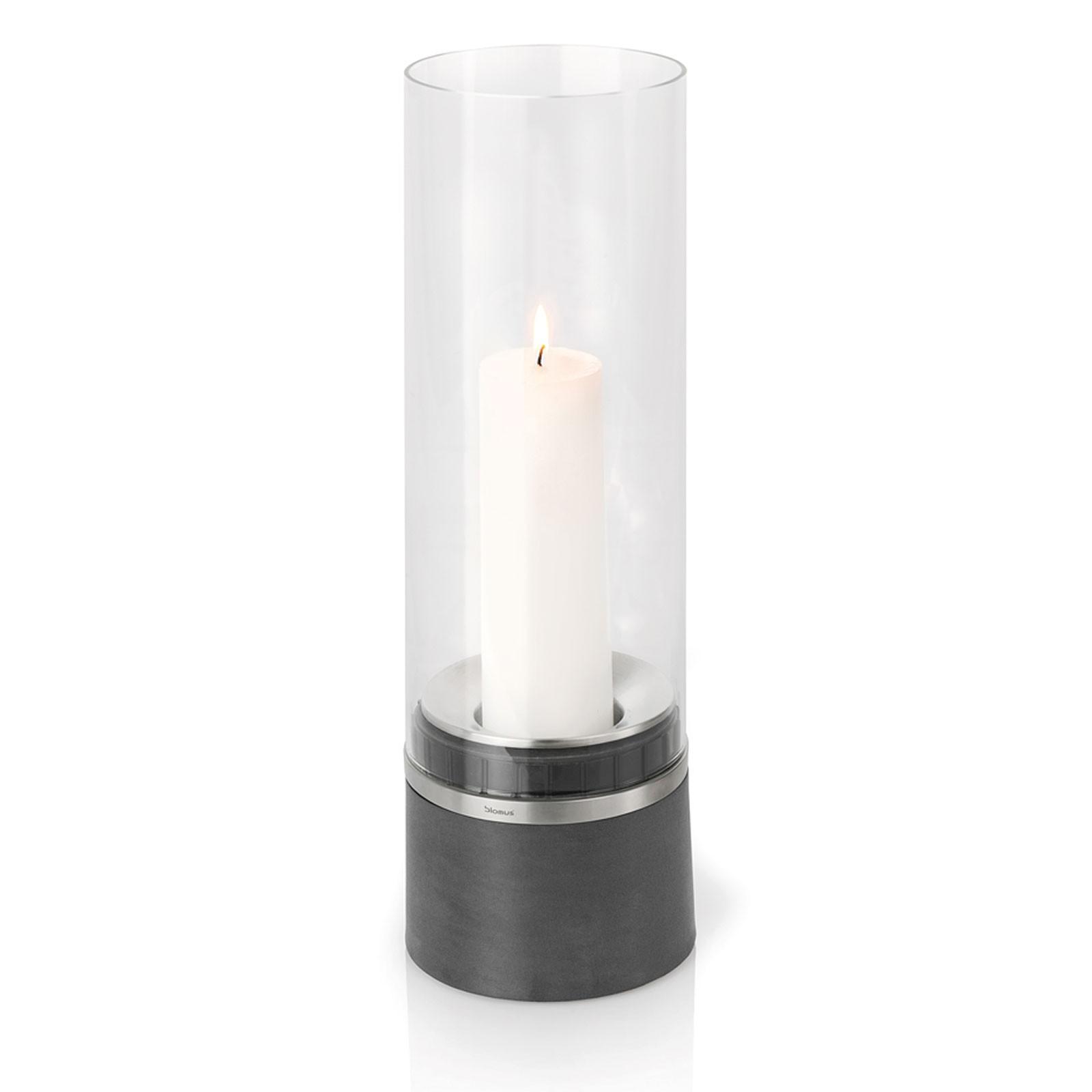 Windlicht mit Kerze 47 cm (h) blomus PIEDRA
