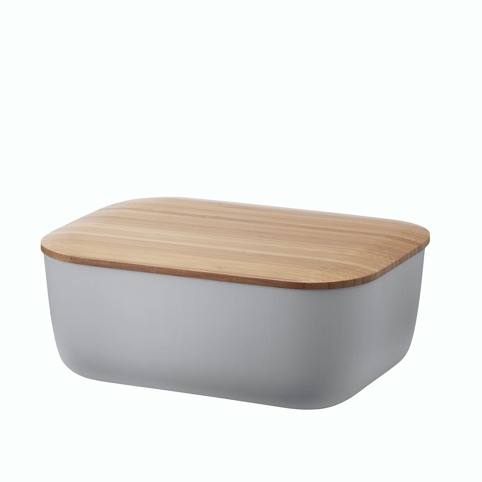 RIG-TIG by stelton Butterdose BOX-IT mit Bambusdeckel warm grey