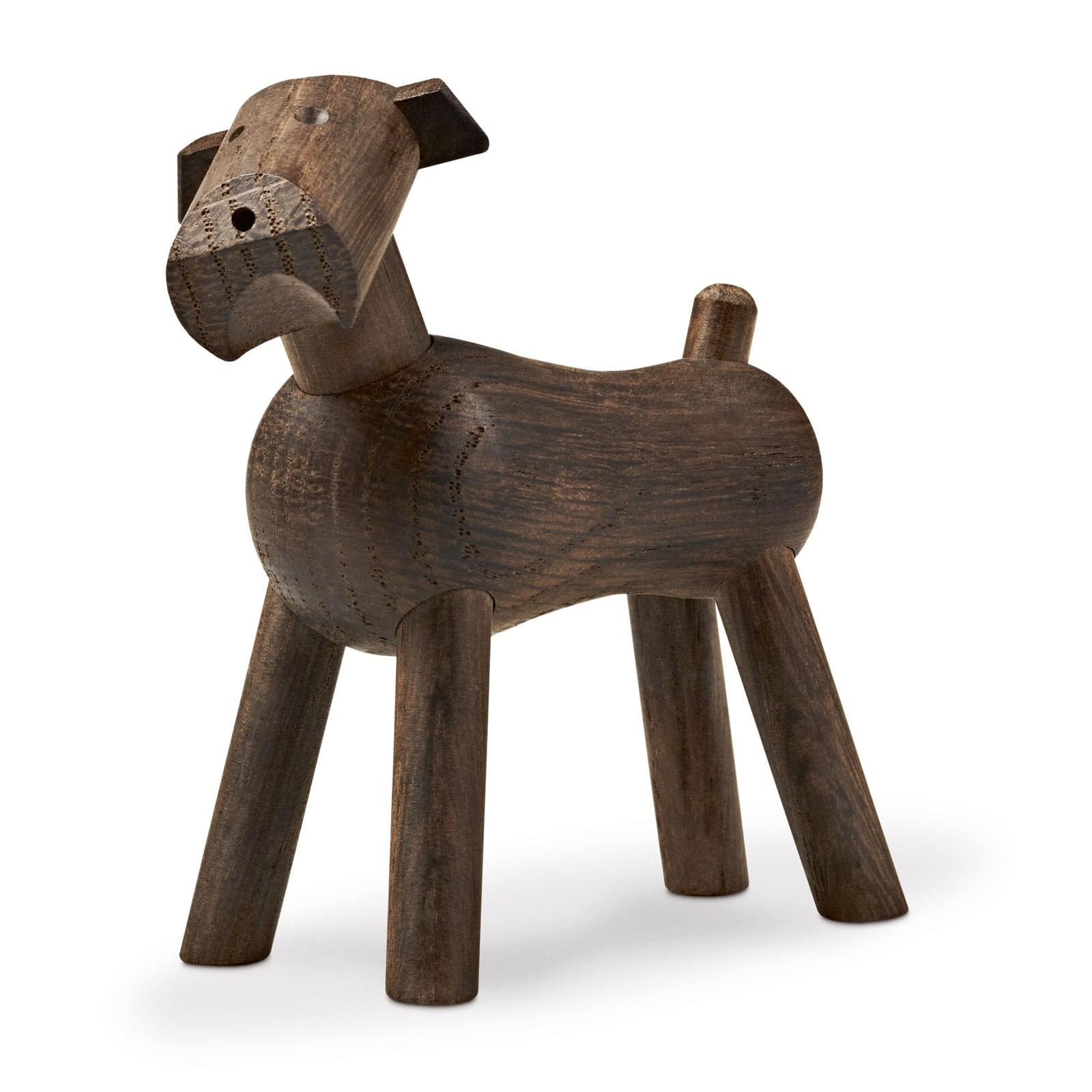 Holzfigur Hund Terrier Räuchereiche 7,5 cm Kay Bojesen TIM