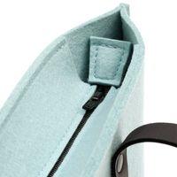 Hey Sign PRAG Tasche mit Innentasche Ledergriffe Reißverschluss viele Farben