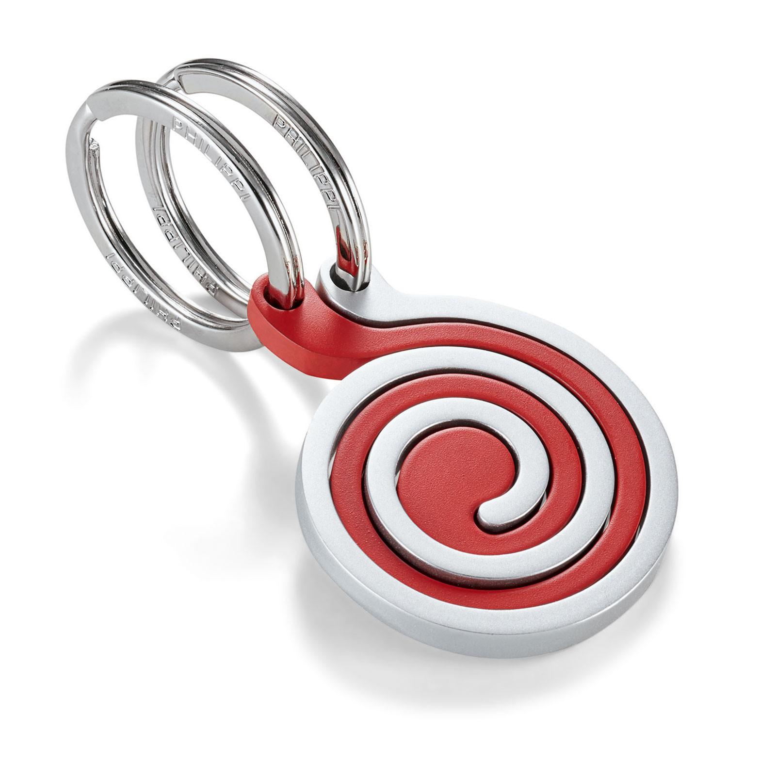 Philippi SNAIL Schlüsselanhänger 2-teilig matt silber rot lackiert