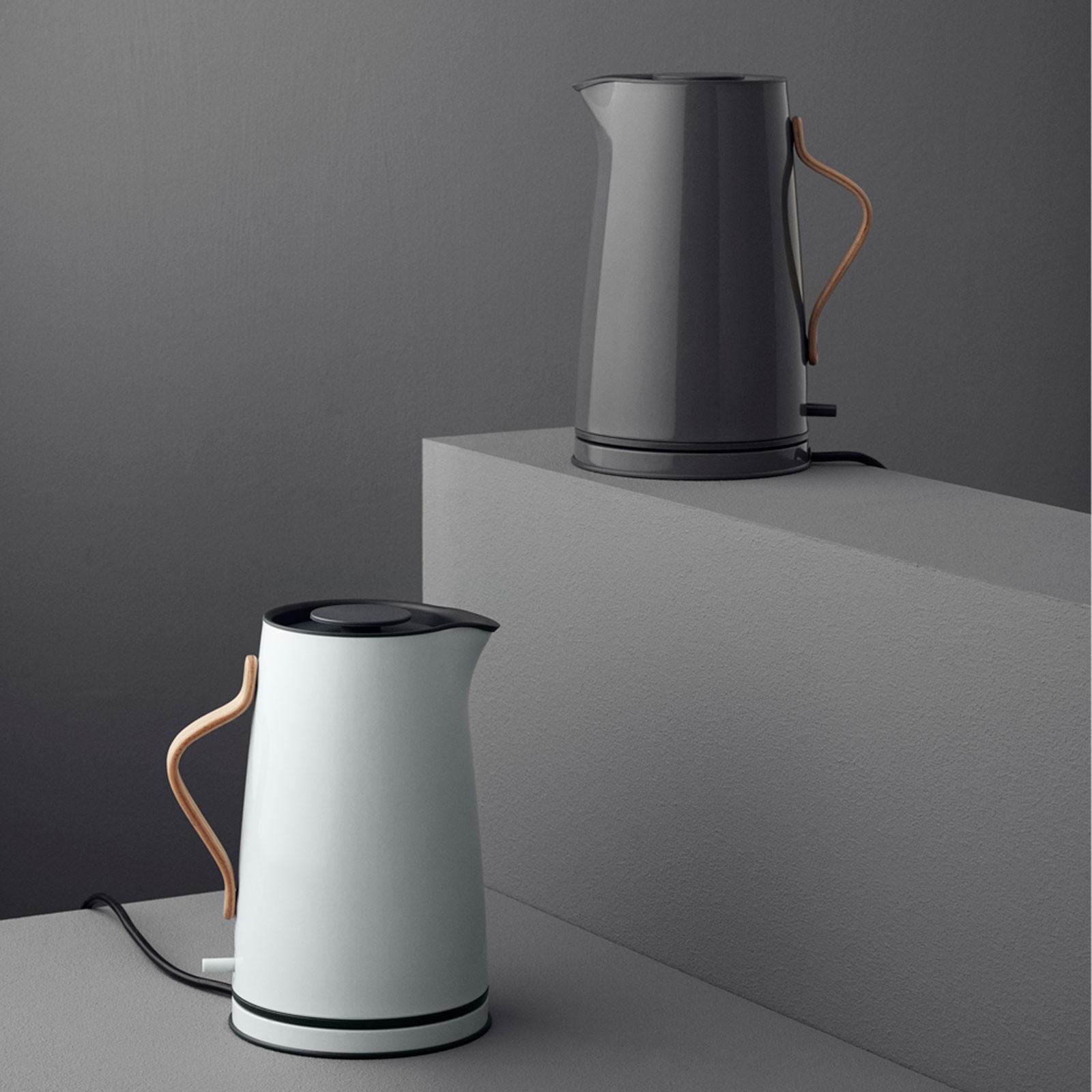 Wasserkocher Modern wasserkocher schwarz 1 2 l edelstahl buchenholzgriff