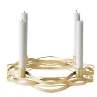 stelton Tangle Adventskranz Kerzenhalter Messing