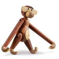 Holzfigur beweglicher Holzaffe 28 cm Kay Bojesen AFFE