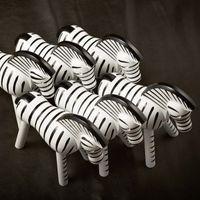 Kay Bojesen Holzfigur Zebra Buche lackiert 14 cm