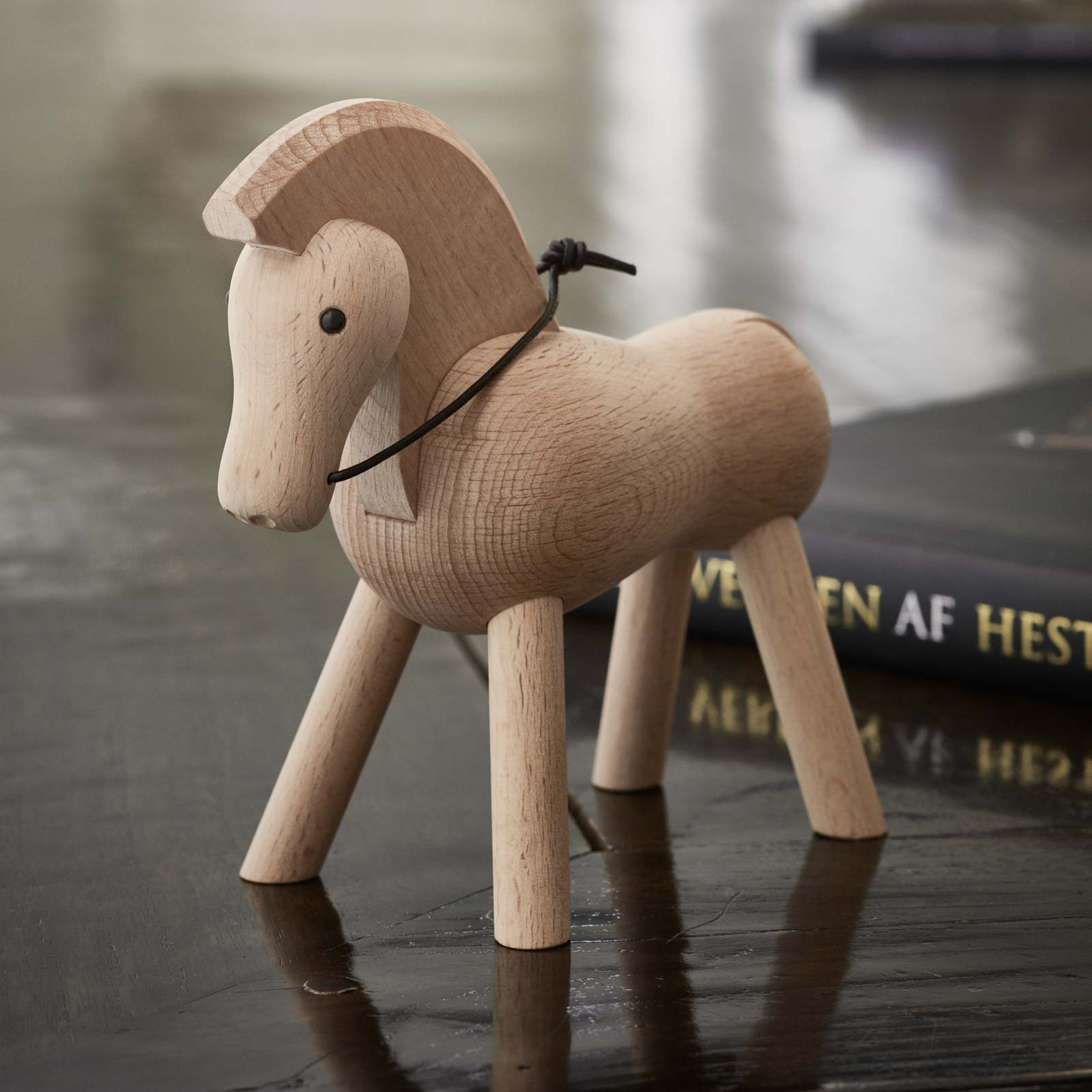 Kay Bojesen Holzfigur Pferd Buche 14 cm