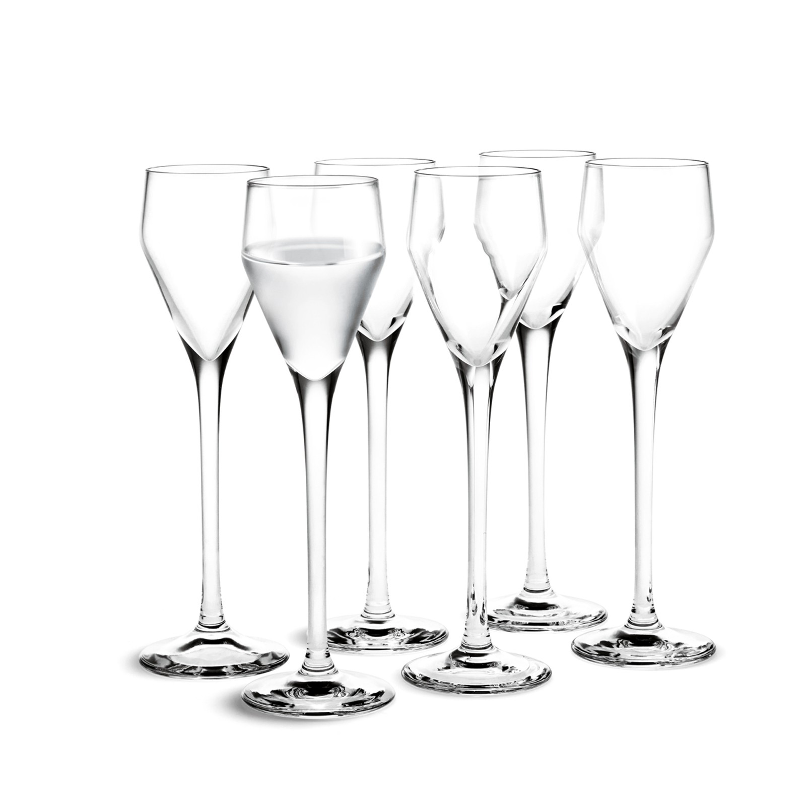 Schnapsgläser Mit Stiel holmegaard perfection schnapsglas 6 stück 5 5 cl design tom nybroe