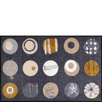 Salonloewe Fußmatte Wohnmatte 75 x 120 cm TOFFEE CIRCLES