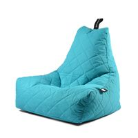 b-bag Extreme Lounging gesteppter Sitzsack Indoor + Outdoor mighty-b Quilted Farbe Aqua