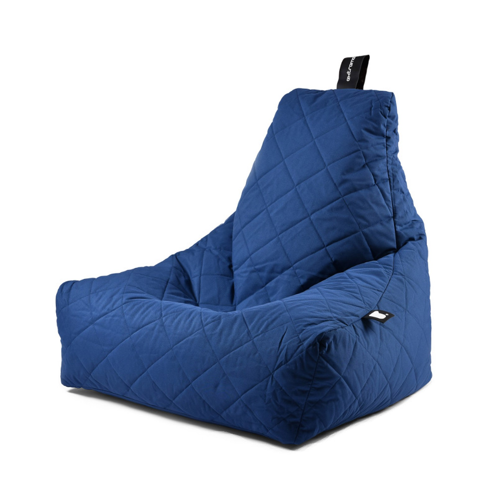 b-bag Extreme Lounging gesteppter Sitzsack Indoor + Outdoor mighty-b Quilted Farbe Royal Blue