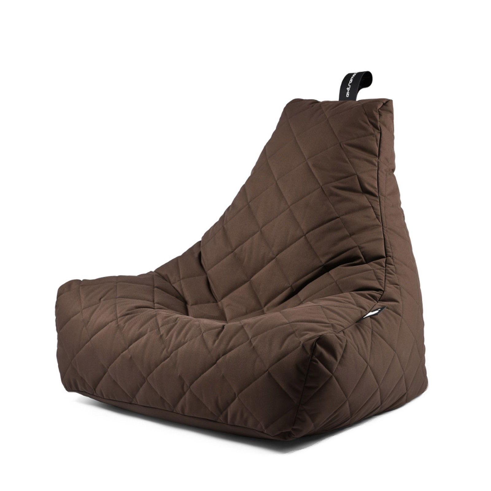 b-bag Extreme Lounging gesteppter Sitzsack Indoor + Outdoor mighty-b Quilted Farbe Brown