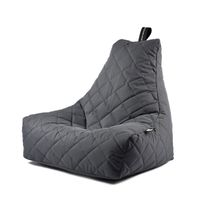 b-bag Extreme Lounging gesteppter Sitzsack Indoor + Outdoor mighty-b Quilted Farbe Grey