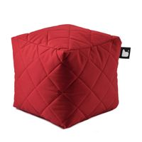b-bag Extreme Lounging gesteppter Sitzwürfel b-box Quilted Farbe Red