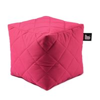 b-bag Extreme Lounging gesteppter Sitzwürfel b-box Quilted Farbe Pink