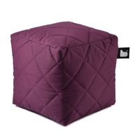 b-bag Extreme Lounging gesteppter Sitzwürfel b-box Quilted Farbe Berry