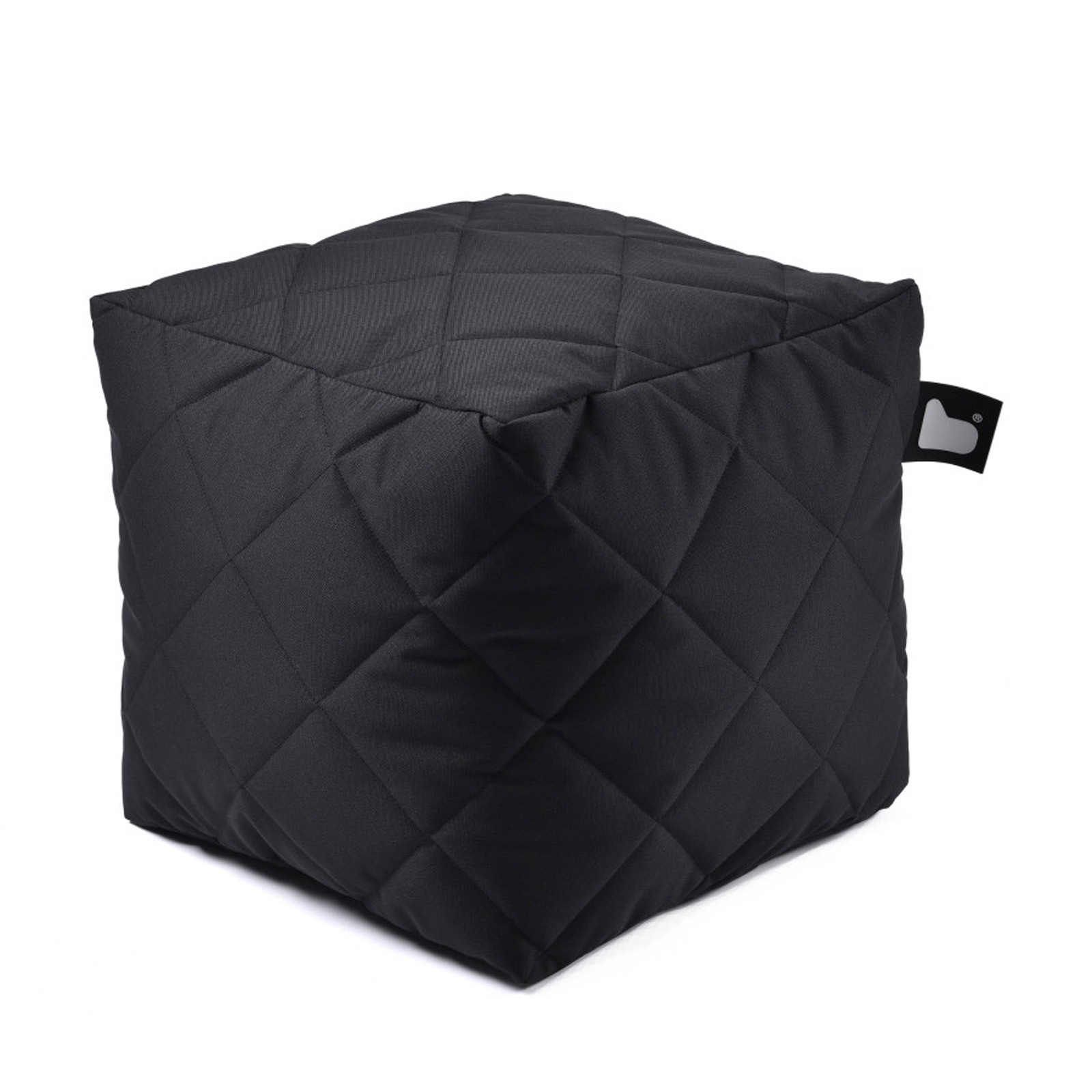 b-bag Extreme Lounging gesteppter Sitzwürfel b-box Quilted Farbe Black
