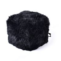 b-bag Extreme Lounging Fellsitzwürfel b-box Sheepskin Fur, Farbe Black