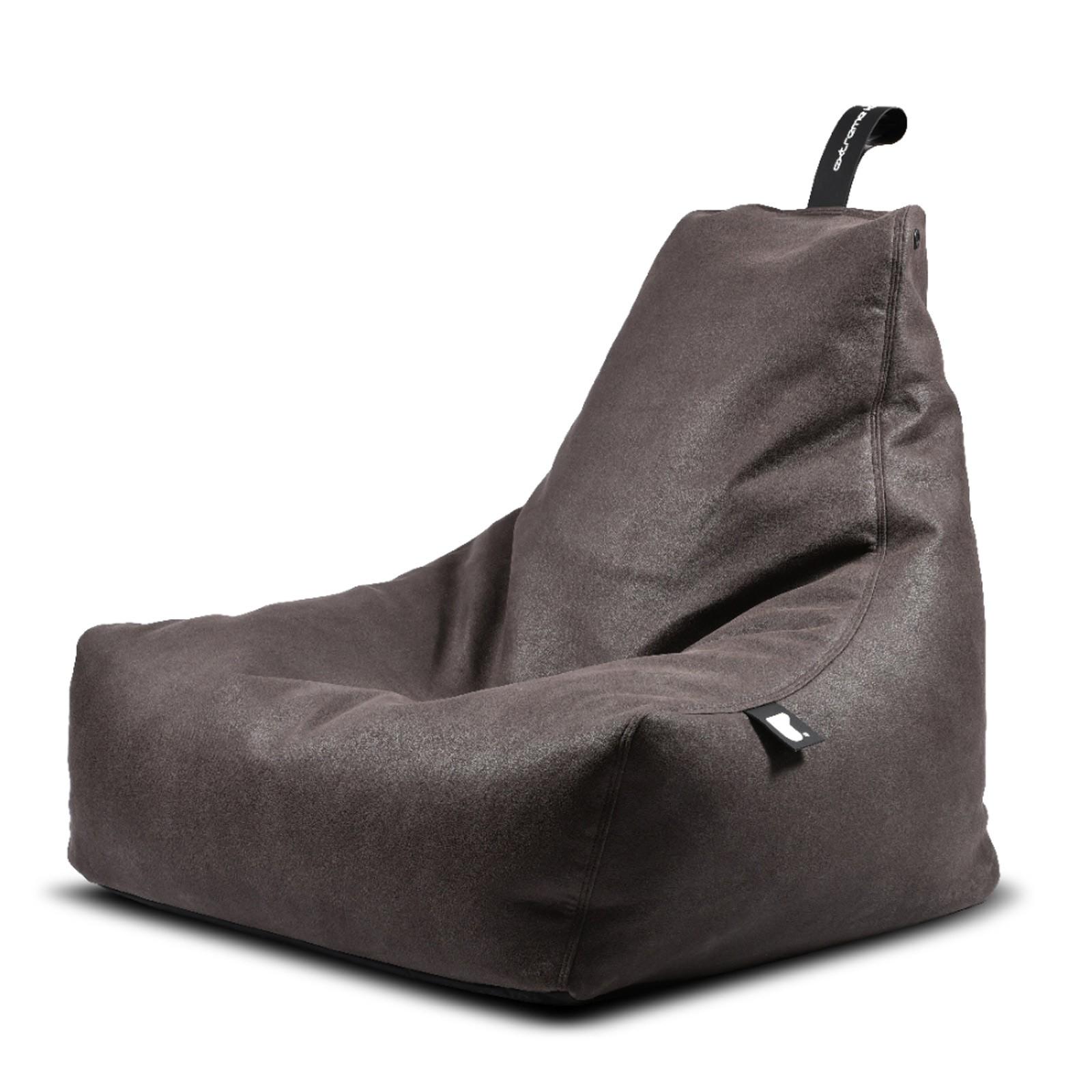 b-bag Extreme Lounging Sitzsack Lederoptik mighty-b, Farbe Slate