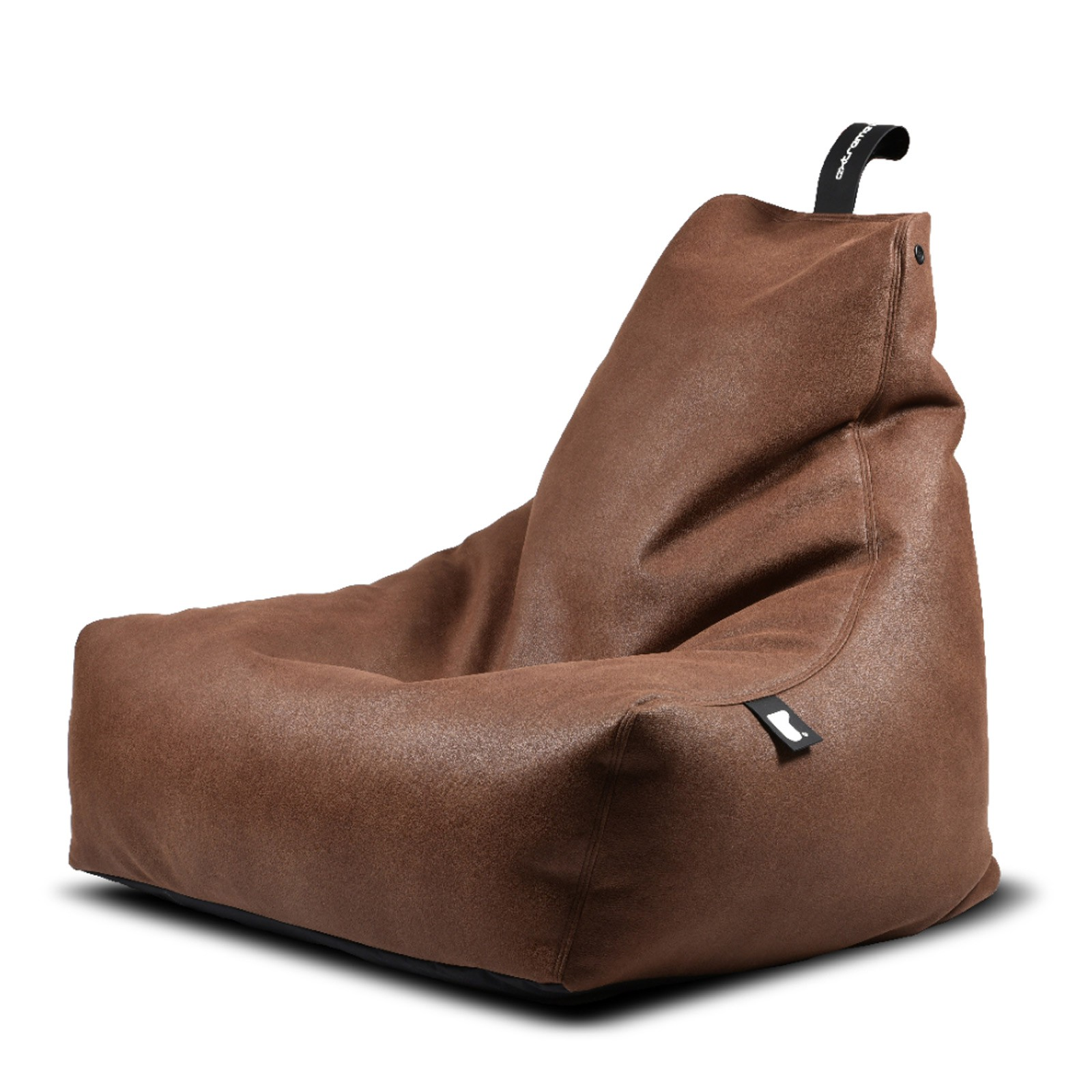 b-bag Extreme Lounging Sitzsack Lederoptik mighty-b, Farbe Chestnut
