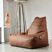 b-bag Extreme Lounging Sitzsack Lederoptik mighty-b, Farbe Tan