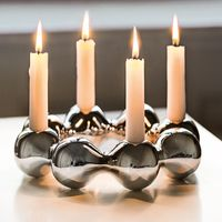 PHILIPPI Kerzenhalter PEARL Ø 23 cm als moderner Adventskranz