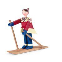 Kay Bojesen Skiläufer Datti Buche lackiert 15,5 cm (h)