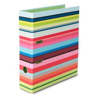 Remember farbenfroher DIN A4 Ordner 28,5 x 8 x 32 cm Motiv STRIPES