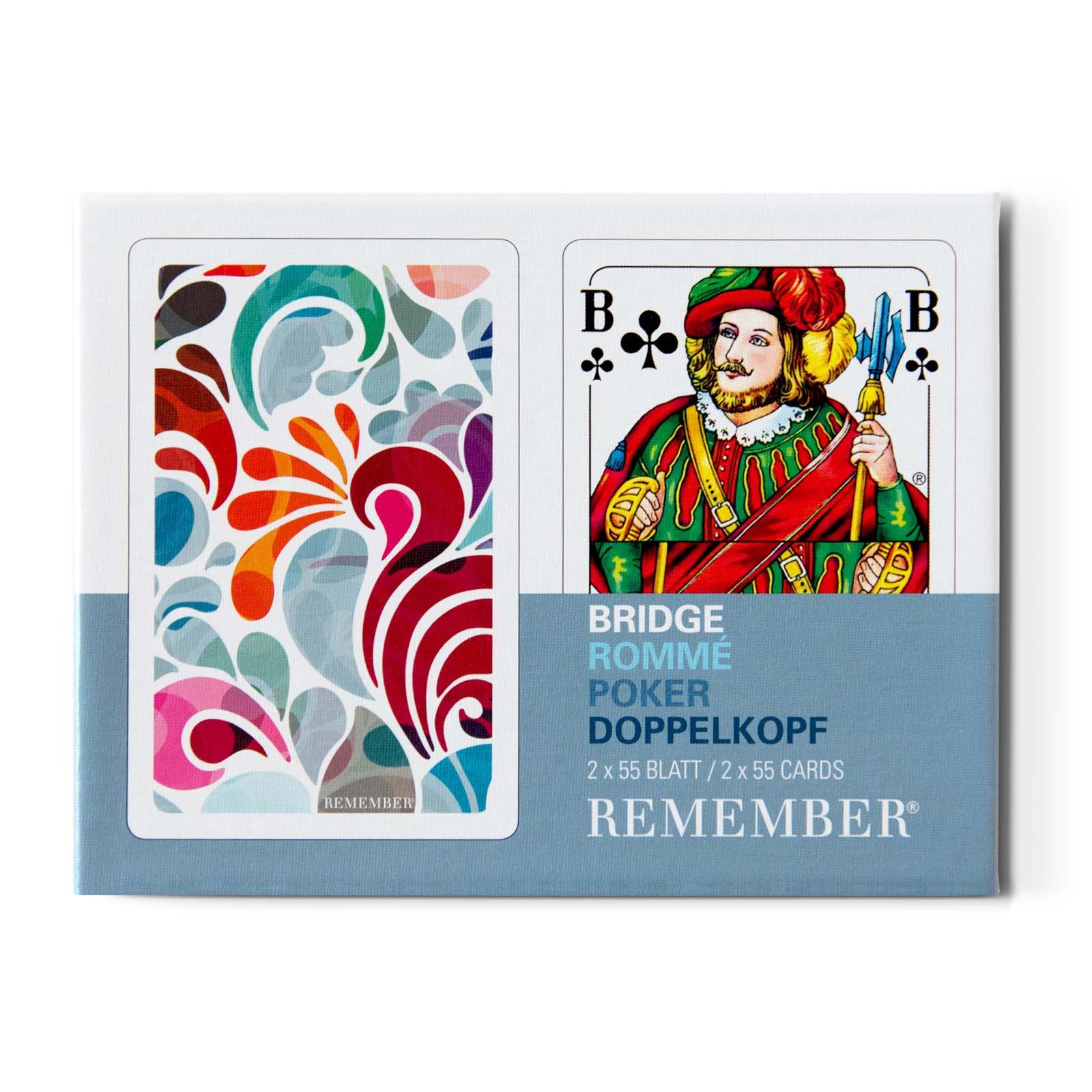 Remember FLORINA Spielkartenset mit klassischem französischem Bild