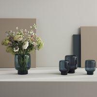stelton Hoop Vase Glas midnight blue 18 cm (h)