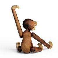 Kay Bojesen Holzfigur beweglicher Holzaffe 10 cm Teak- und Limbaholz