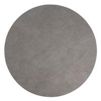 LindDNA Tischset Leder CIRCLE XL Durchmesser Ø 40 cm Hippo anthracite-grey