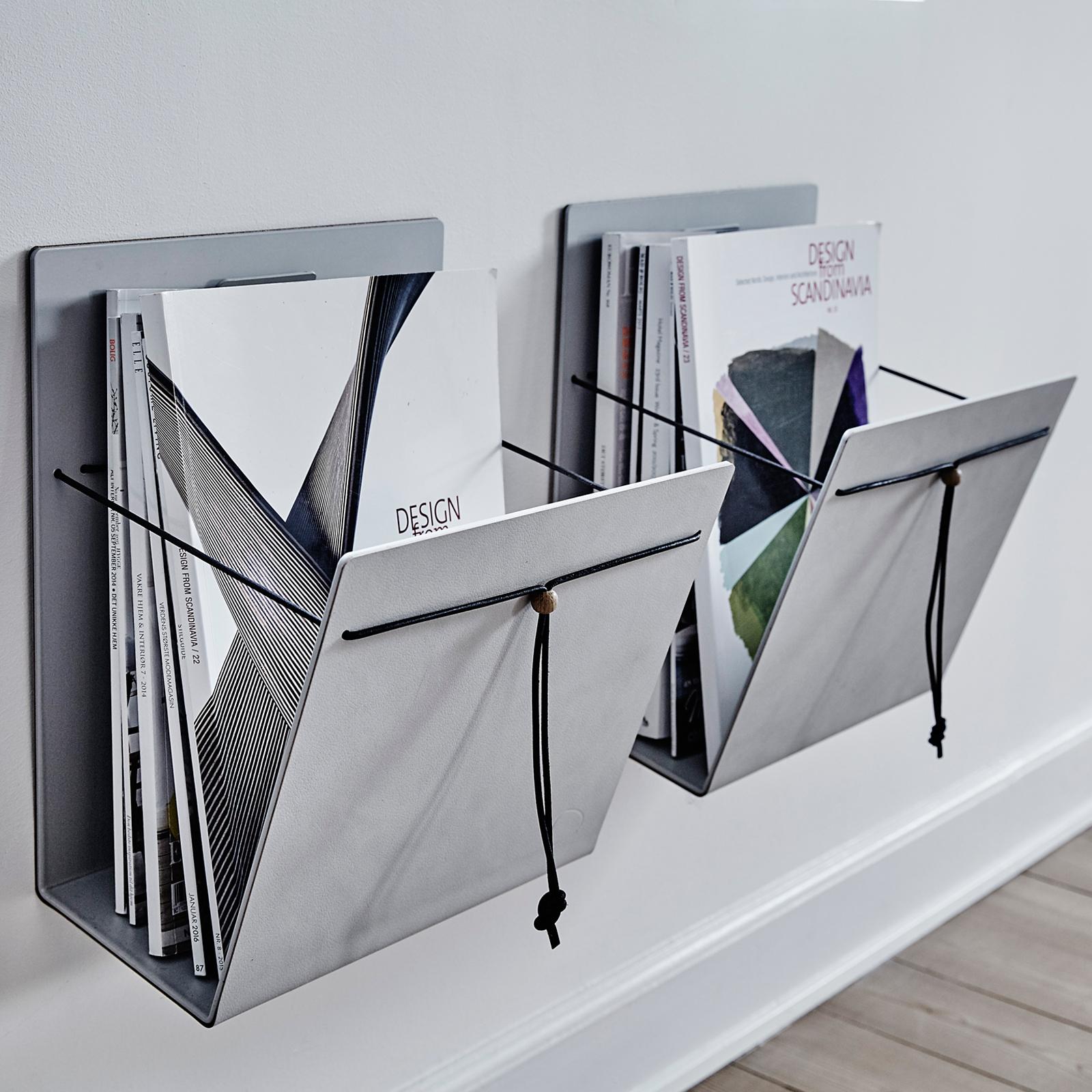 LindDNA Magazinhalter aus Leder verschiedene Größen Nupo light grey