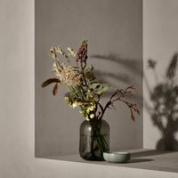 blomus Glasvase OVALO 21,5 cm (h) satiniert grau